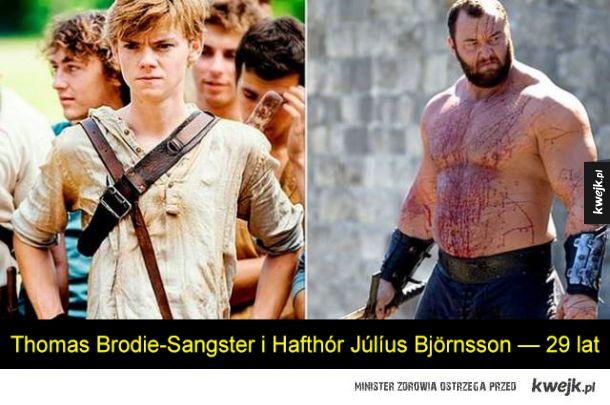 Trudno uwierzyć, że ci aktorzy są w tym samym wieku