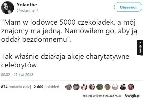Akcje charytatywne celebrytów