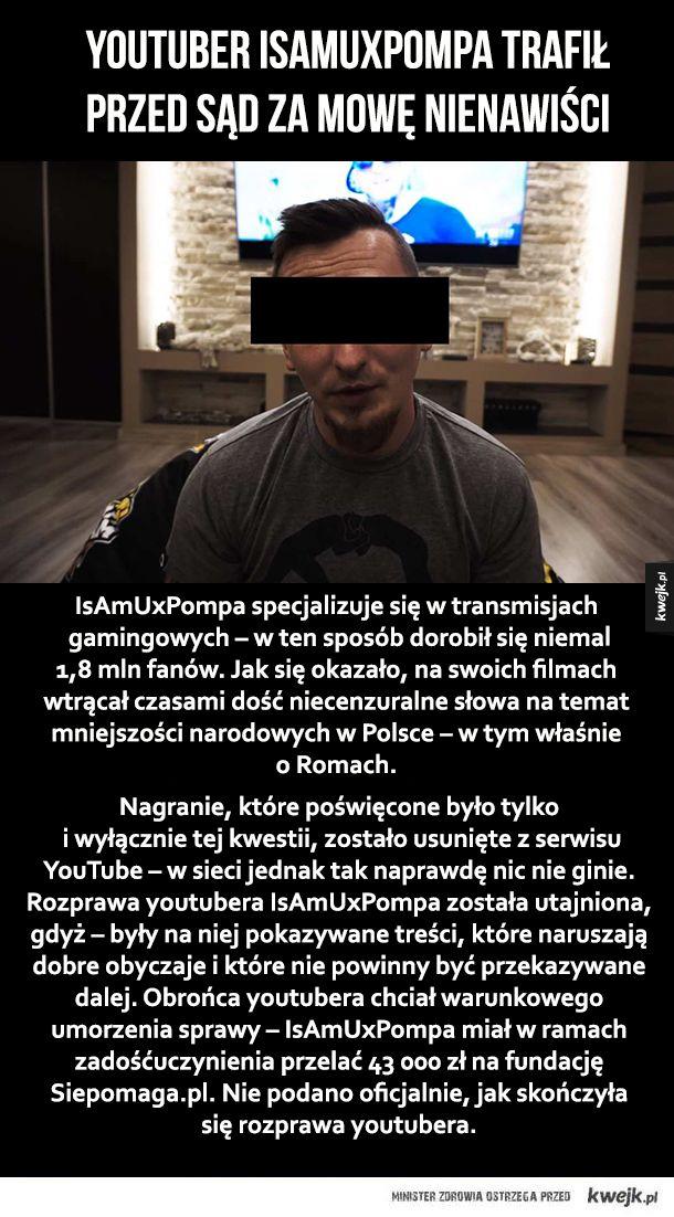 Kolejny youtuber przed sądem