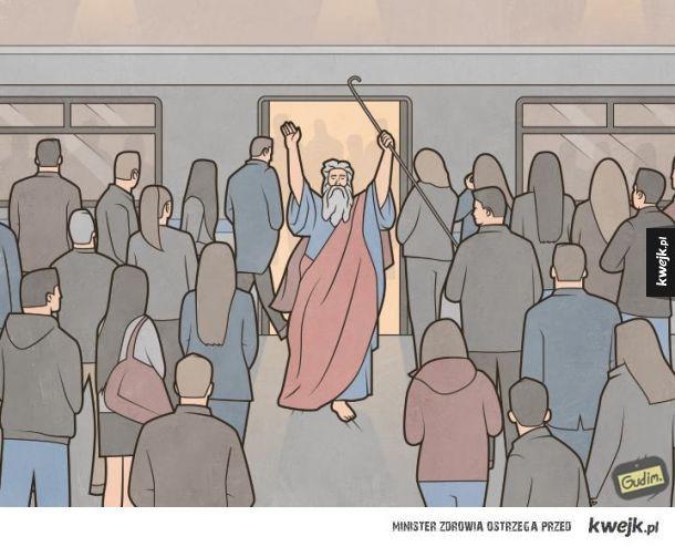 Mojżesz w metrze xD