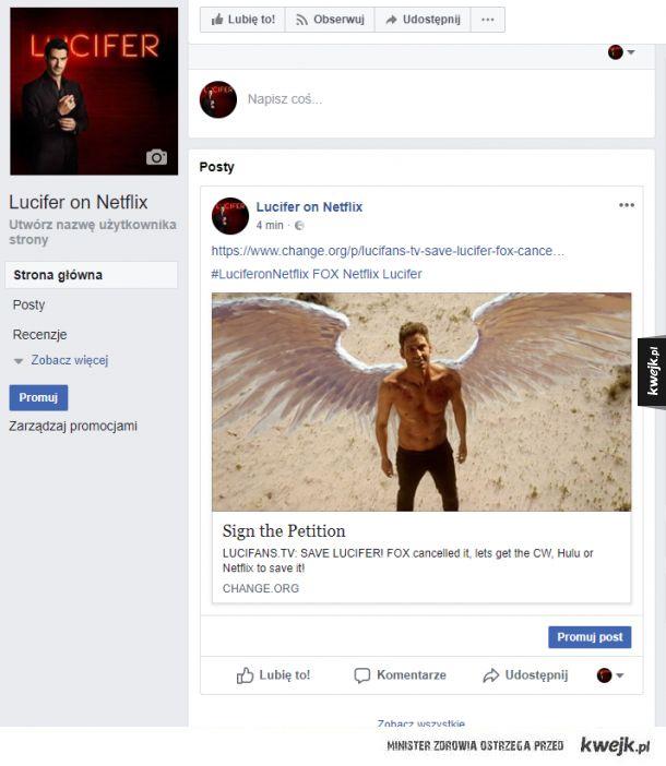 Fox anulował Lucifer ! Podpisz Petycje oraz polub stronę