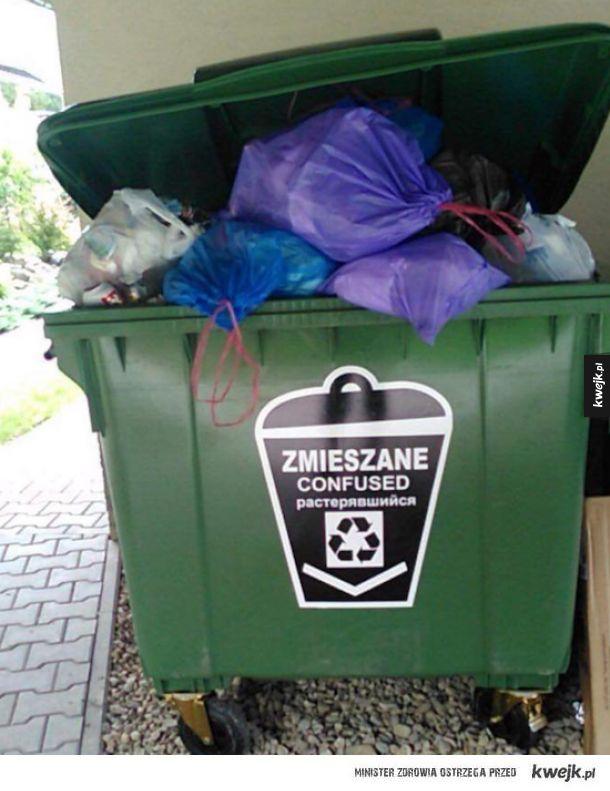 Zażenowane śmieci