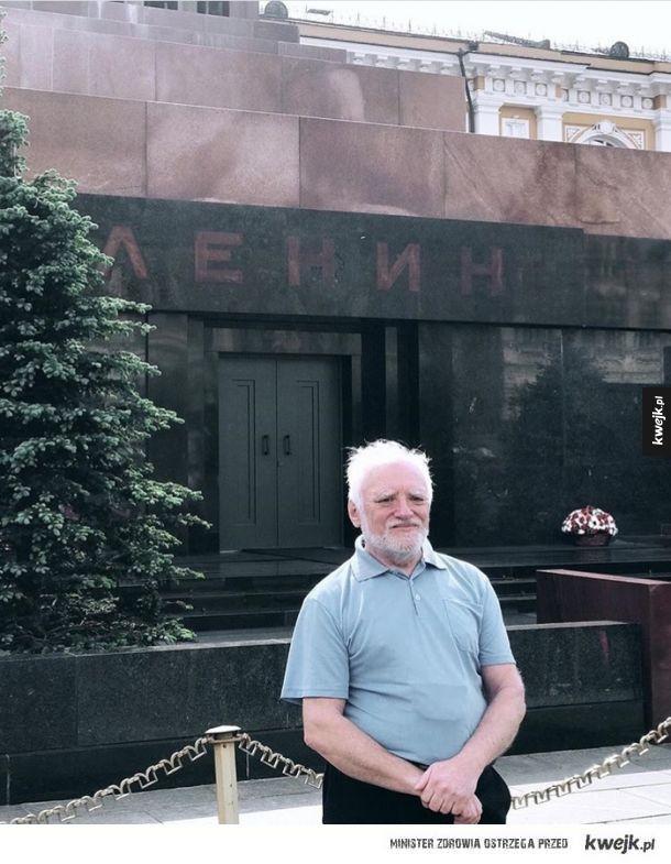 Harold w Mauzoleum Lenina