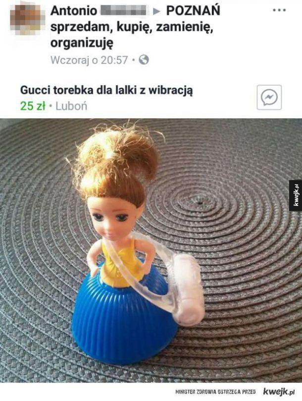 Torebka dla lalki z wibracją