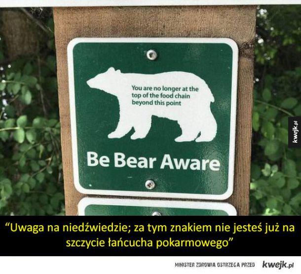 Bardzo niepokojące znaki ostrzegawcze