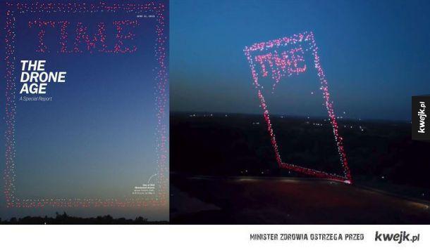 Okładka Time z ponad 900 dronów