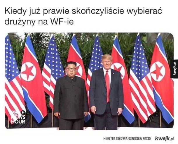 Śmieszki po spotkaniu Donalda Trumpa z Kim Dzong Unem