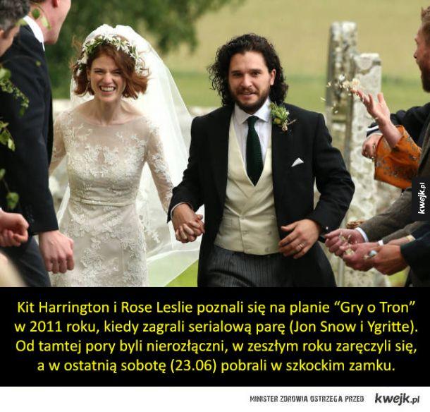 Serialowy Jon Snow poślubił serialową partnerkę
