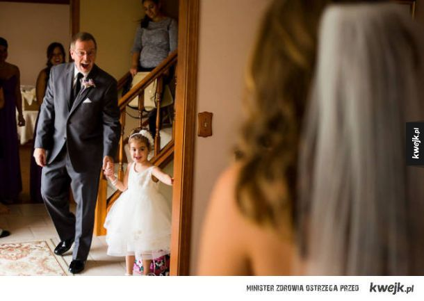 Reakcje ojców na widok córek w sukniach ślubnych