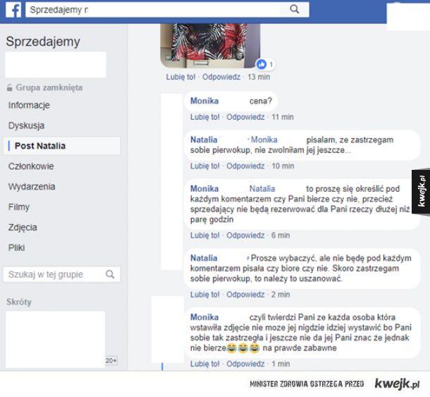 Pierwokup na facebook'u rozwala system :D czy na prawdę ja jestem z innego świata i mnie tylko to rozbawia do łez? :D  oto przykład jak działa pierwokup :D