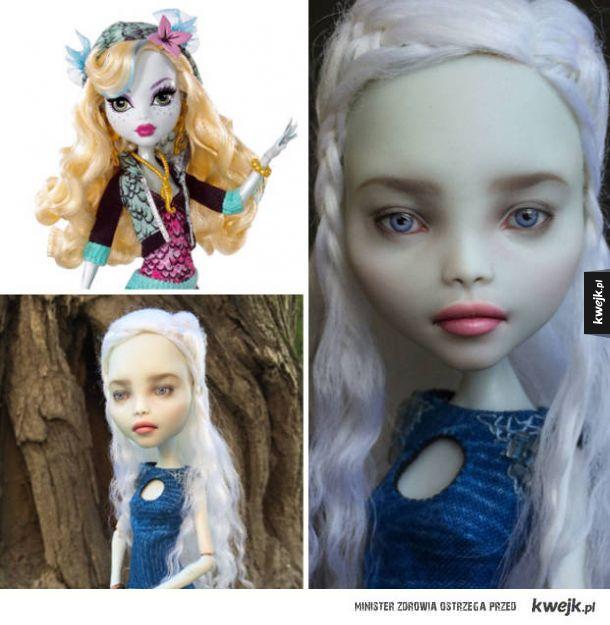 Ukraińska artystka przerabia zwykłe lalki na małe dzieła sztuki