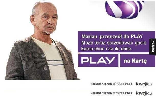Marian przeszedł do play, ty też możesz.