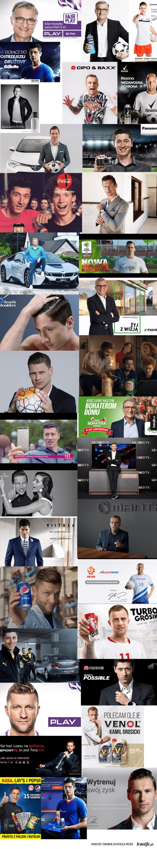 Może pomiędzy meczami z Senegalem i Kolumbią uda wam się nakręcić jeszcze kilka reklam?