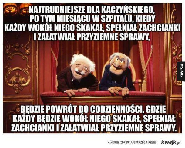 Ciężkie życie Kaczyńskiego