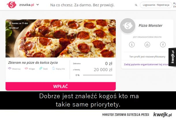 Pizza do końca życia