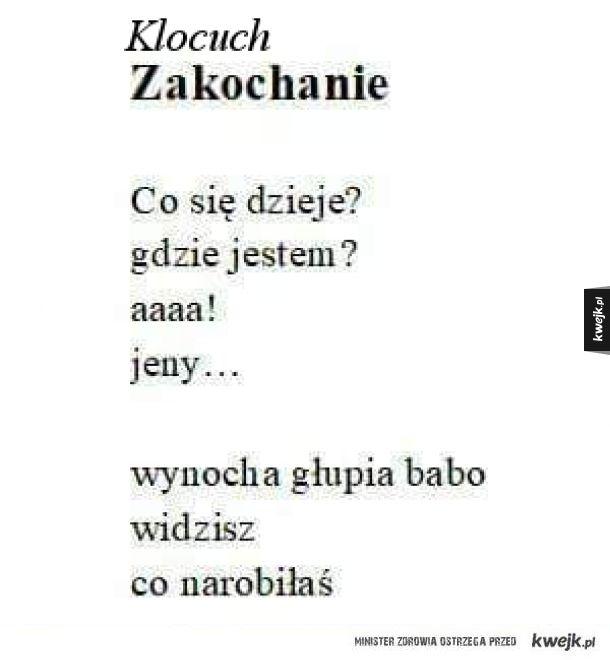 Poezja Klocucha