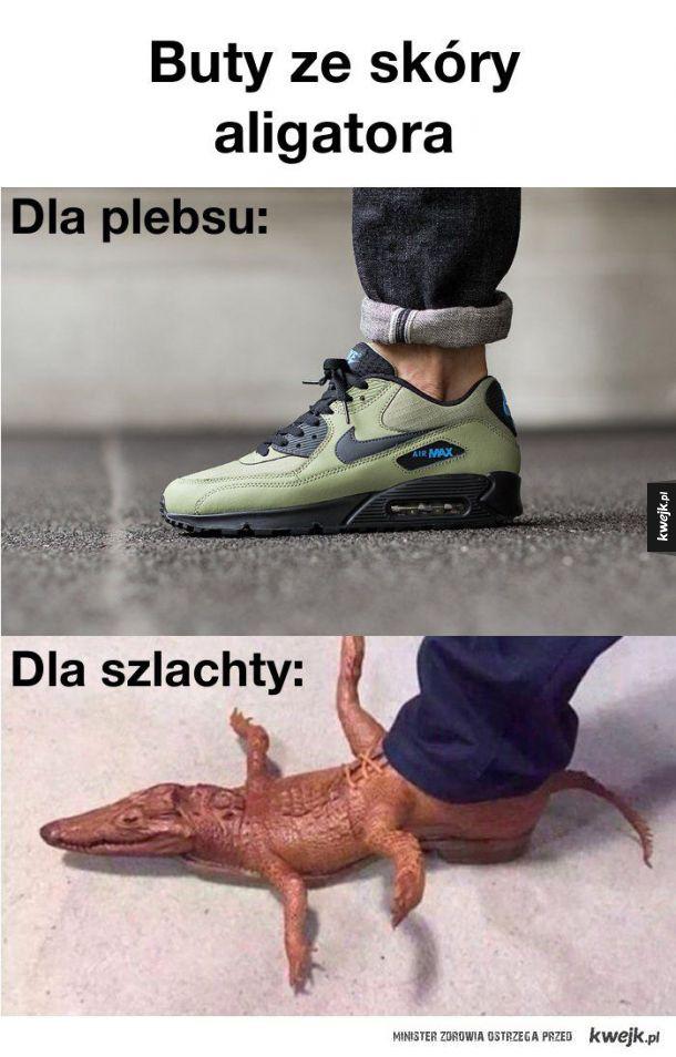 Buty z aligatora