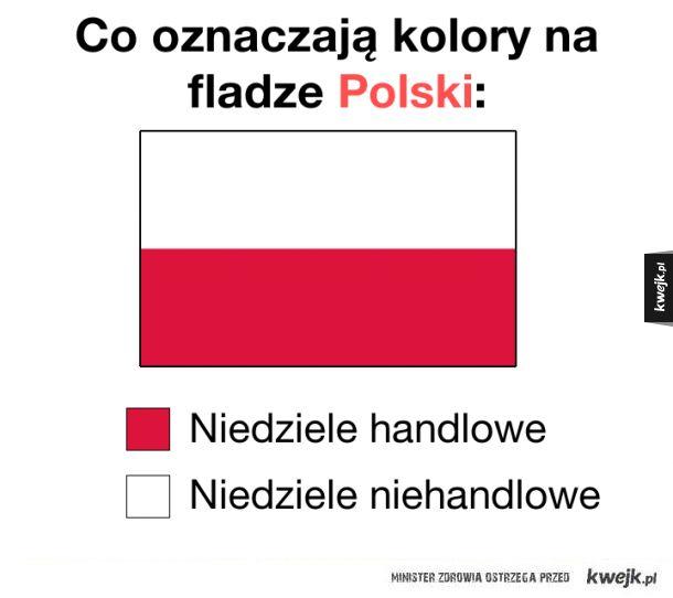 Co oznaczają kolory na fladze Polski