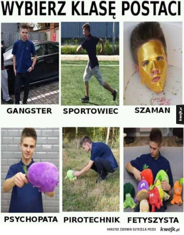 Wybierz klasę postaci