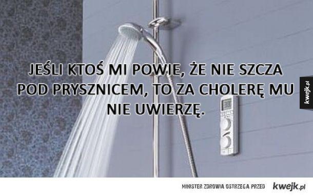 Szczanie pod prysznicem