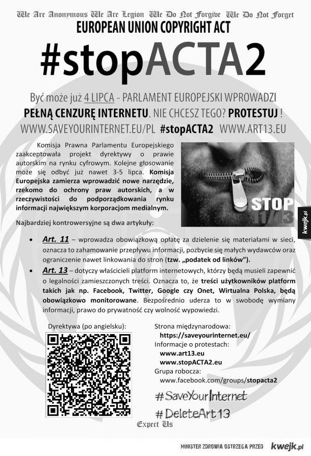 Zatrzymajmy cenzurę internetu!