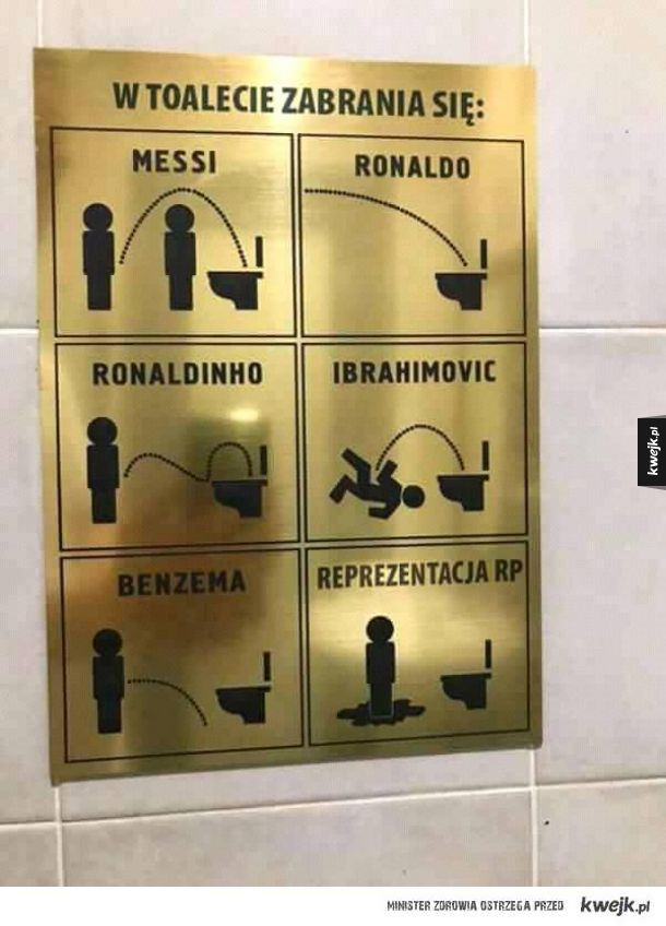 W toalecie zabrania się