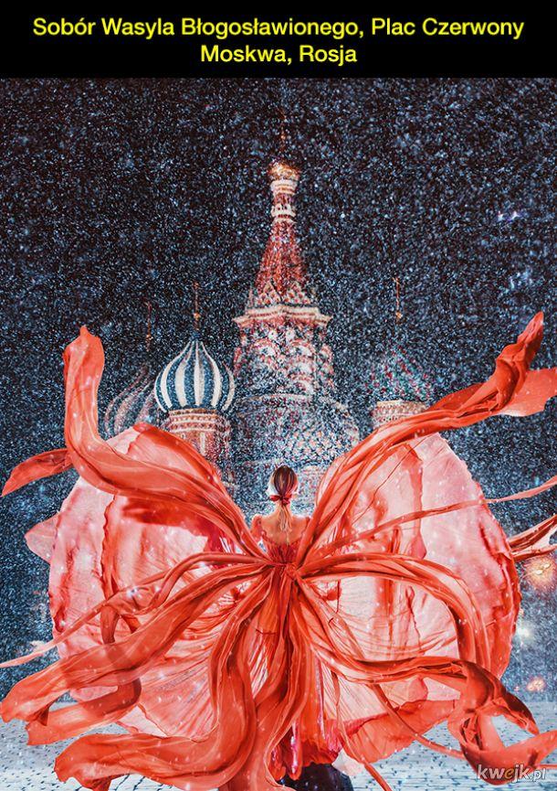 Kobiety w sukienkach na tle najpiękniejszych miejsc na Ziemi - fotografie autorstwa Kristiny Makiejewej