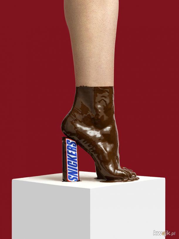 """Nikolaj Beyer tworzy wizualizacje """"butów"""" z bardzo nietypowych materiałów"""