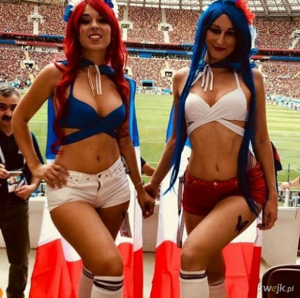 Piękne, francuskie fanki na Mundialu