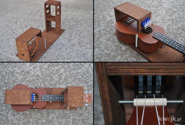 Robot grający na ukulele (link w komentarzu)