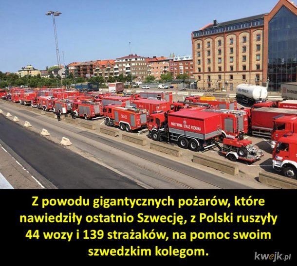 Piękny gest polskich strażaków