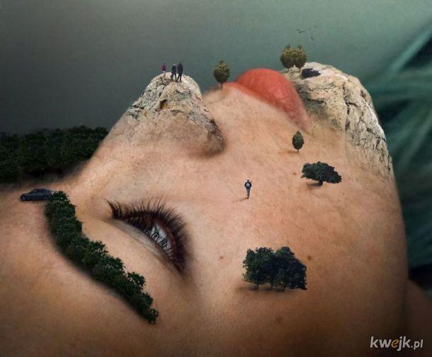 Psychodeliczne fotomontaże Moniki Carvalho
