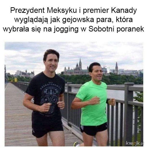 Wybrali się na jogging
