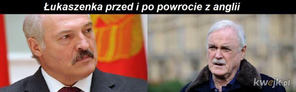 Łukaszenka został Johnem Cleesem