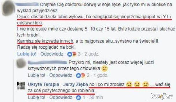 Jerzy Zięba - szkodliwy antyszczepionkowiec, szarlatan i kretyn.