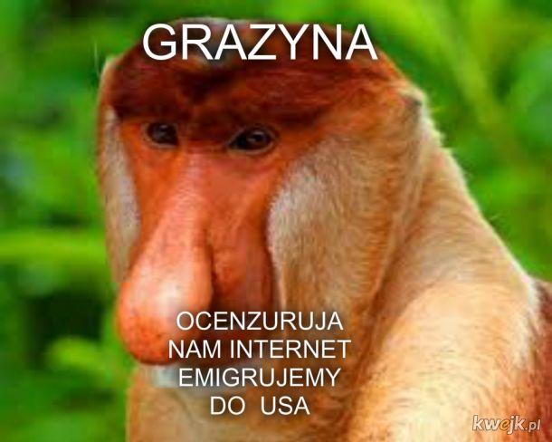 GRAZYNA CENZURUJA NAM INTERNET