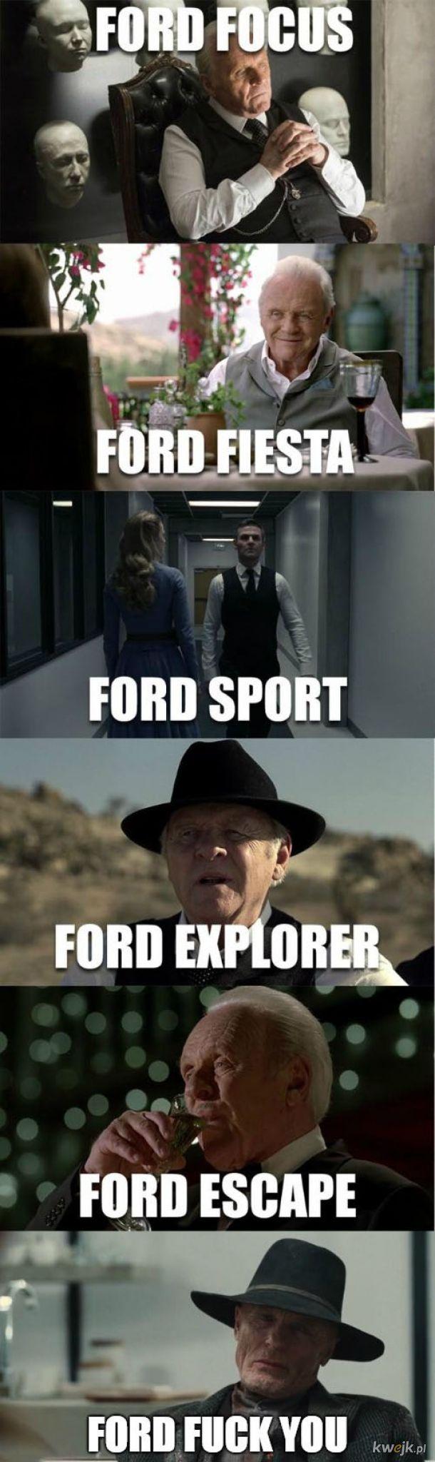 Różne modele Forda