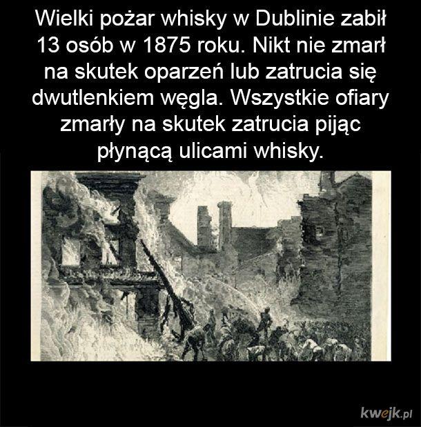 Wielki pożar whisky w Dublinie