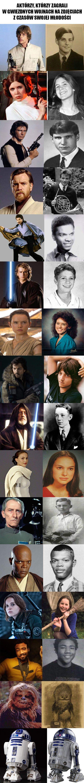 Jak bardzo zmienili się aktorzy z Gwiezdnych Wojen, oceńcie sami.