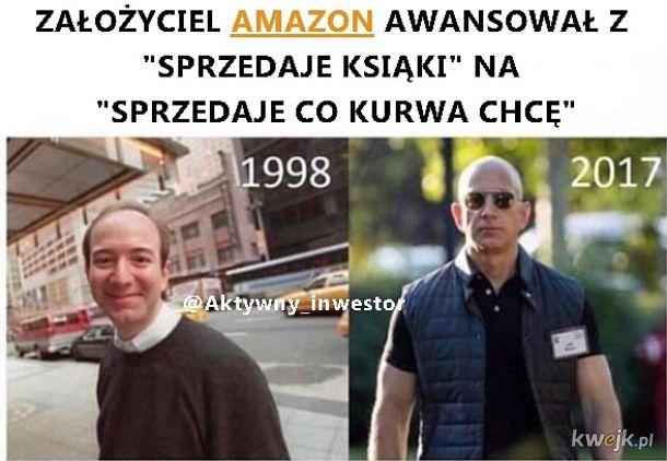 Jeff Bezos założyciel Amazon.