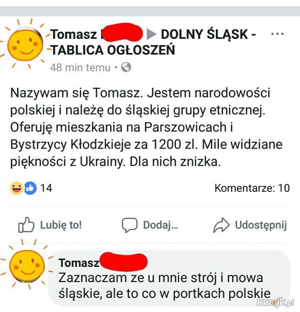 W sercu Śląsk, w portkach Polska
