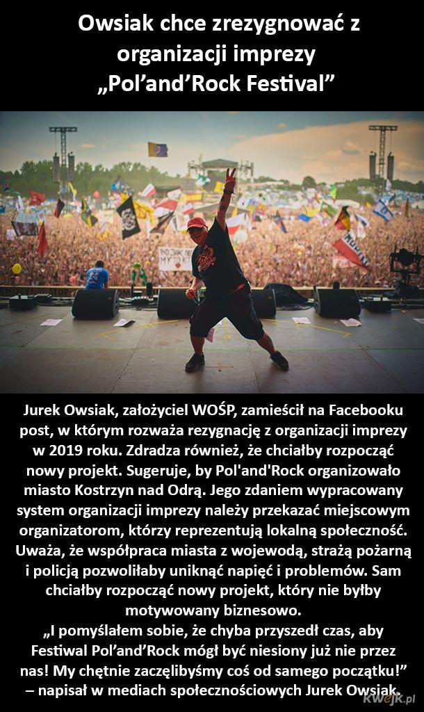 Jurek Owsiak rezygnuje