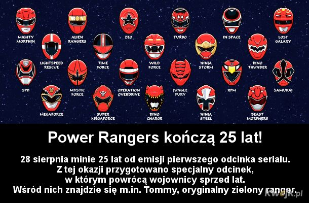 25-lecie Power Rangers
