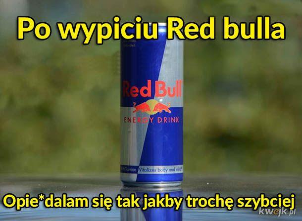 Po wypiciu Red bulla
