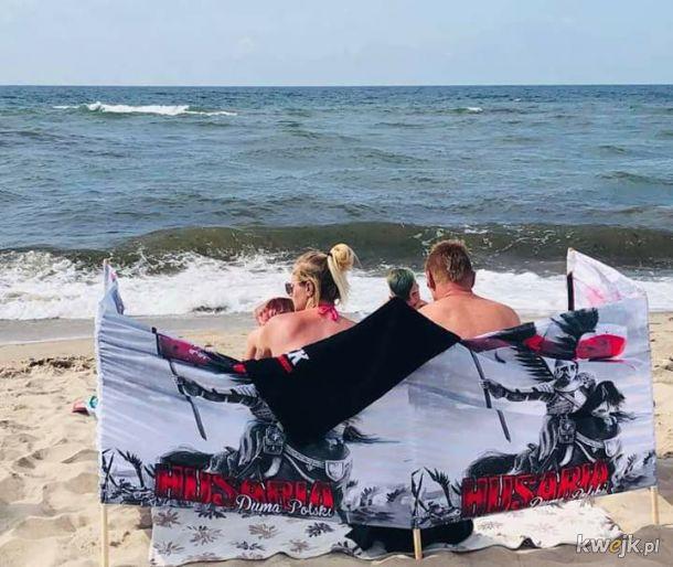 Sebix, Karyna i Brajanek na plaży