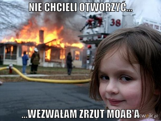 Groźna dziewczynka z bombom Termo-barycznom