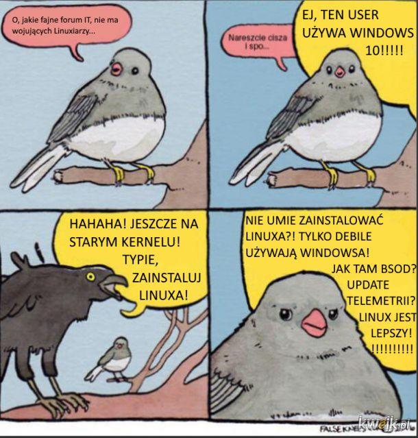 Wszędzie ten Linux....