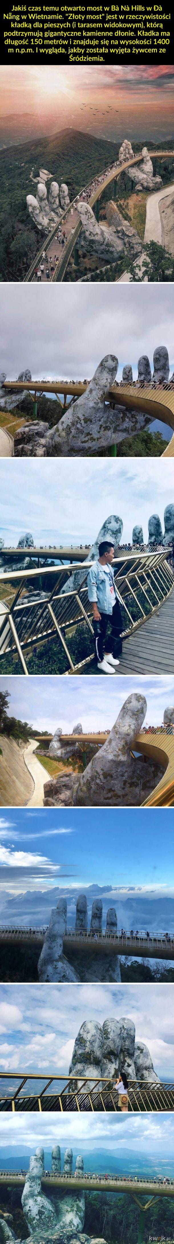 """Most w Wietnamie, który wygląda jak z """"Władcy Pierścieni"""""""