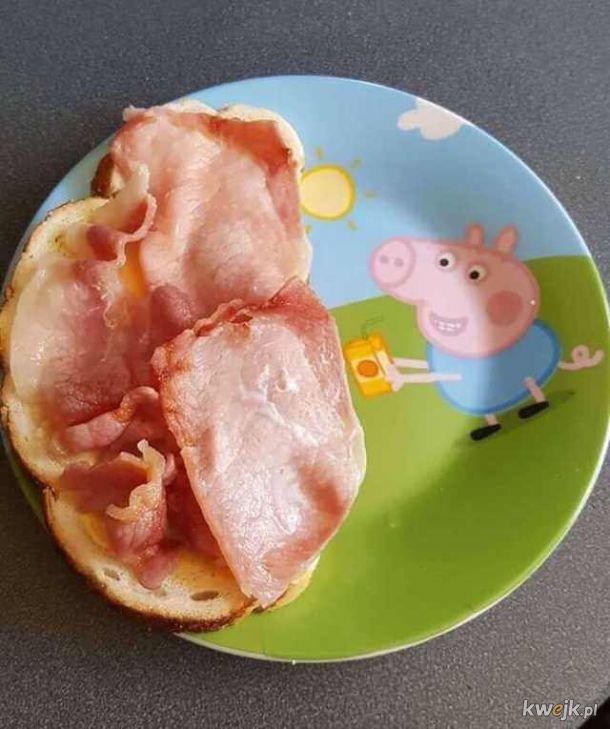 Świeżo upieczona mama świnka