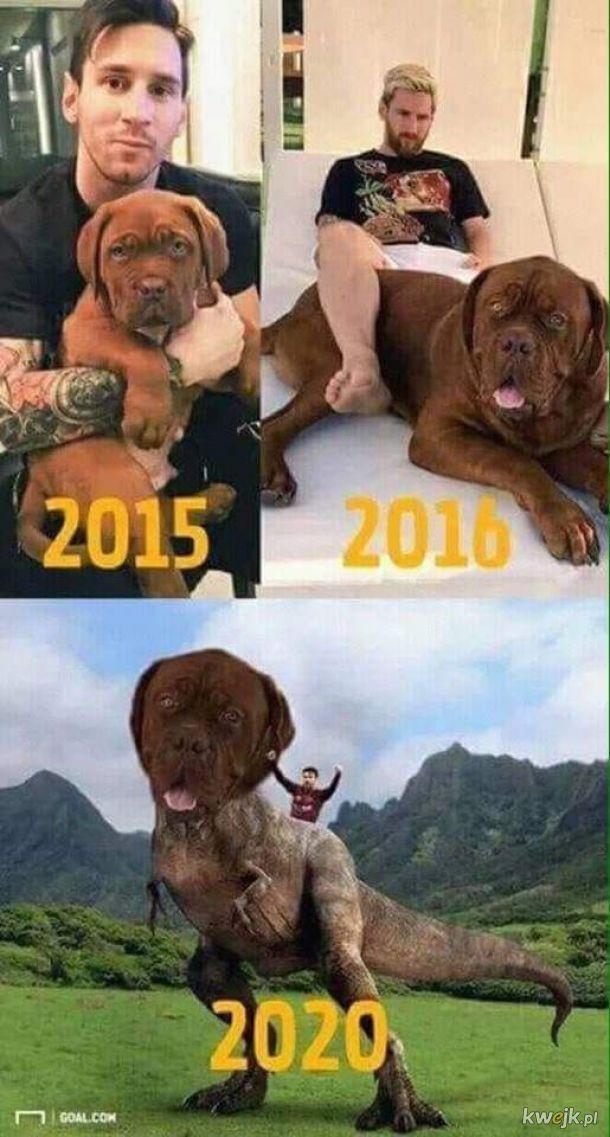 Ale on rośnie!